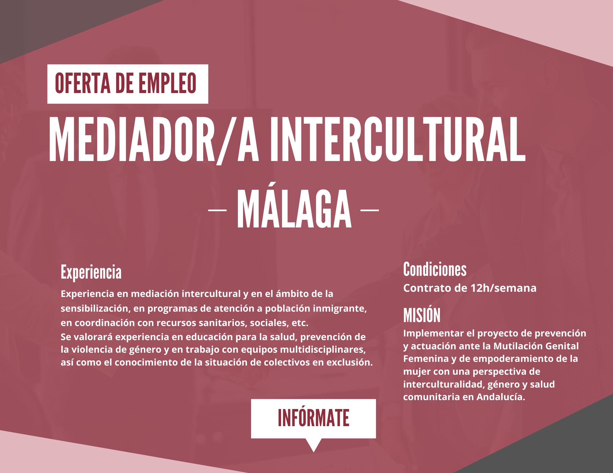 Mediador Intercultural Oferta De Empleo Malaga