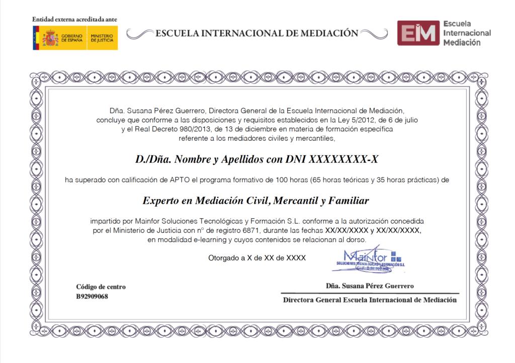 experto en mediacion civil mercantil y familiar