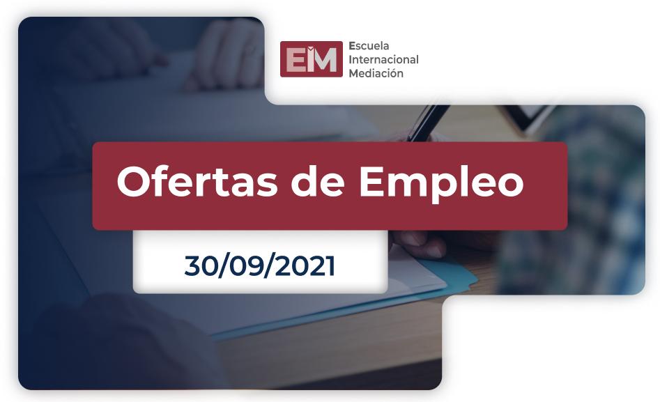 Ofertas De Empleo Para Trabajar De Mediador:a 30 Septiembre