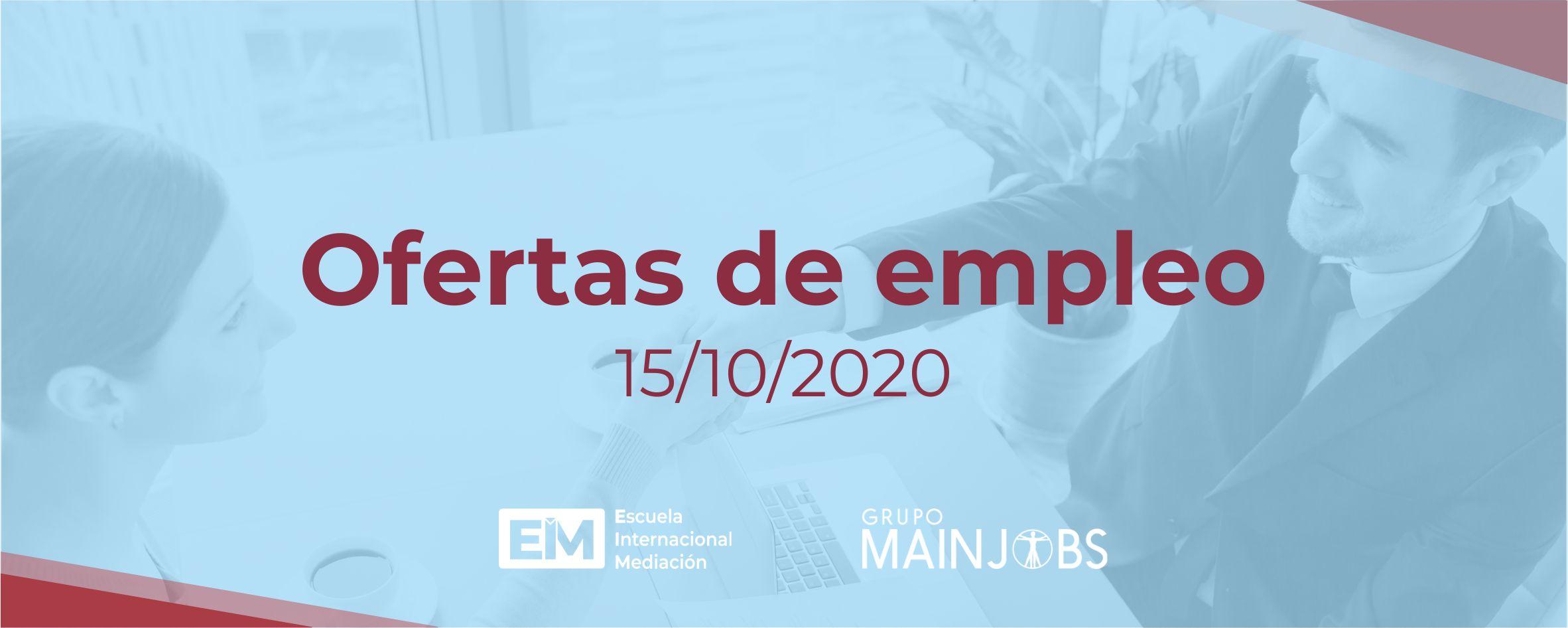 Ofertas de empleo para trabajar como mediador mediadora 15 de octubre